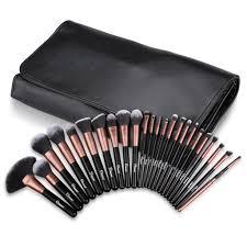 ovonni mt026 professional 24pcs superior cosmetic makeup brush makeup tools kit brush set black brush roll