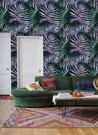 Zelfklevend Behang Tropisch Blad Groen Roze 122x275 Cm Tapetshow