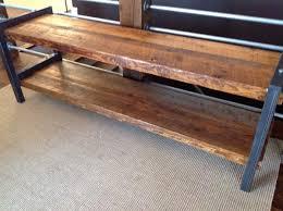 bench with shelf. Reclaimed Wood \u0026 Metal Bench With Shelf L