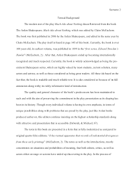 mla style research paper much ado about nothing