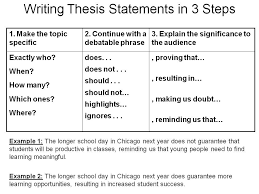 Writing A Good Thesis Statement Steps Thesis Statement Template