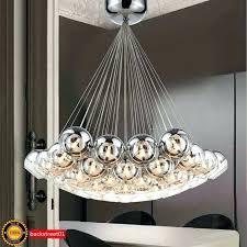 bubble light chandelier details about new modern chrome glass bubble led pendant light chandelier ceiling lamp