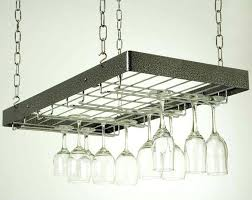 hanging wine glass racks wooden rack metal