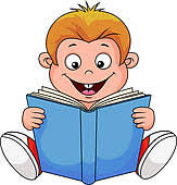 clipart of cartoon boy reading a book k13390831 search clip art ilration murals drawings and vector eps graphics images k13390831 eps