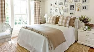 Khaki Gingham Guest Bedroom
