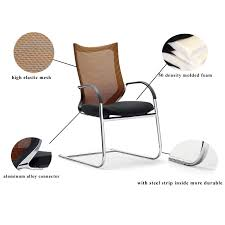 ergonomic office chair without wheels gs 1662 meeting chair