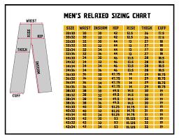 Methodical Jean Waist Size Chart 2019