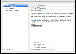 mac email templates billsonar invoice apple mac os x