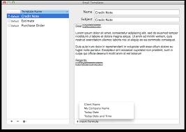 mac email templates billsonar invoice apple mac os x