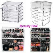 5/6 Drawer Acrylic Makeup Organizer Clear Cosmetic Eyeshadow Lipstick Brush  Storage Cabinet