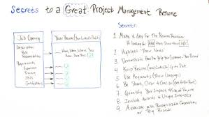 How To Create A Great Resume Secrets To A Great Project Management Resume Projectmanager Com