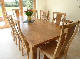 Large Pippy Oak Dining Table and Chairs Quercus Furniture