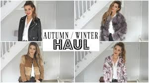 autumn winter try on haul 2017 coats and jackets zara primark asos newlook mango top