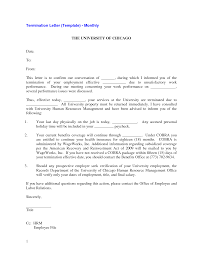 Example Of Termination Letter To Employee Sample Employment