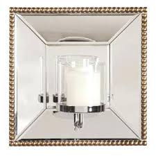 hurricane sconces homey ideas mirrored wall sconce candle holder mirror with home decorators collection hurricane wall