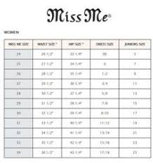 Kids Miss Me Jeans Size Chart 41 Hand Picked Girls Jeans Size Chart Conversion