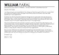 Regional Sales Manager Cover Letter Sample Cover Letter