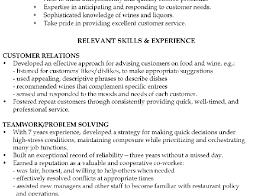... 210 x 140. Functional Resume Sample Waiter relevant skills ...