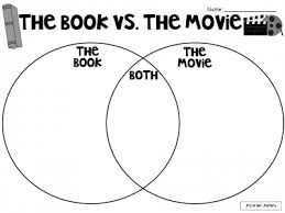 Book Vs Movie Venn Diagram The Book Vs The Movie Graphic Organizer Books Vs Movies