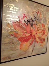 pier 1 paintings orange painting cream painting