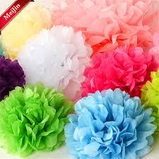 Tissue Paper Pom Poms Flower Balls 2019 15 20cm Tissue Paper Pom Poms Paper Flower Ball Pompom For Home Garden Birthday Wedding Car Decoration Artificial Flowers 5z From Kuaikey 39 88