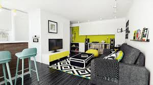 Lime Green Living Room Accessories Luxury Black And Green Living Room With Additional Interior Decor