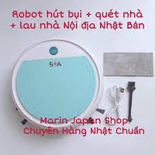 Robot máy hút bụi + lau nhà + quét nhà + khử trùng , 4 tác dụng trong 1  Full phụ kiện nội địa Nhật Bản chính hãng 1,870,000đ
