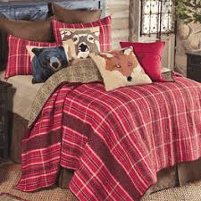 Cabin Quilts & Red Mountain Lodge Plaid Quilt Bedding Collection ... Adamdwight.com