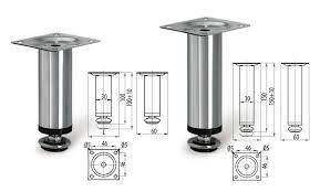 Kitchen Sofa Furniture Adjustable Plinth Leg For Kitchen Cabinet Furniture Sofa Chrome