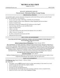 quality assurance analyst sample resume qa analyst resume samples
