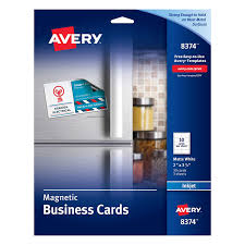 10 Free Business Cards Avery 8374 Magnetic Business Cards 2 X 3 1 2 White 10 Cards Per Sheet Pack Of 30 Cards