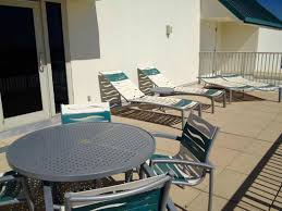 holiday inn express pensacola beach room 804 king executive suite terrace overlooking pensacola city