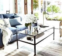 pottery barn glass coffee table perfect tanner rectangular bronze finish round side