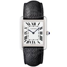 cartier watches for ladies and men at berry s jewellers solo large steel silver r dial men s strap watch