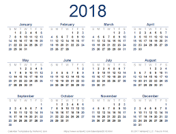 calendar 2018 free printable 2018 calendar templates and images