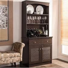 hutch kitchen furniture. Traditional Dark Brown Wood Kitchen Storage By Baxton Studio Hutch Furniture B
