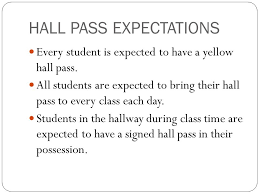 Student Hall Pass Expectations Use And Abuse Hall Passes Hall Pass