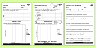 Favourite Fruit Tally And Pictogram Worksheet Worksheets