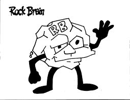 Small Picture Rock Brain Coloring Page Team Unthinkables Superflex Social