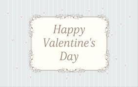 おしゃれバレンタインメッセージカードデザイン植物フレームストライプ