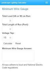 full image for series lighting voltage drop calculator minimum wire gauge street low