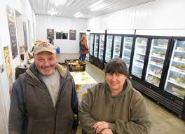 fred and stacia monahan inside the new farm with craft kitchen and butchery at stone gardens farm brad durrell photo