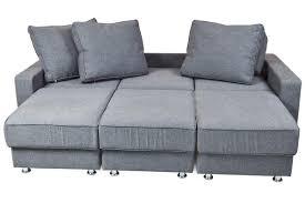 convertible fabric sofa bed futon dark gray color isolated