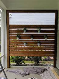 make an outdoor privacy wall this weekend