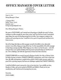 American Resume Cover Letters Office Manager Cover Letter Sample Resume Companion