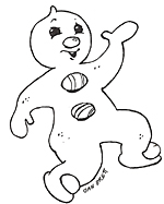 gingerbread baby coloring pages. Interesting Pages Gingerbread Boy Pizzazz Baby With Intended Coloring Pages I
