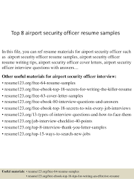 Security Officer Resume Extraordinary Top 60 Airport Security Officer Resume Samples