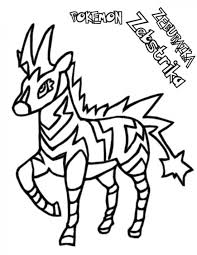 Small Picture Pokemon Zebstrika Coloring Pages Pokemon Coloring Pages