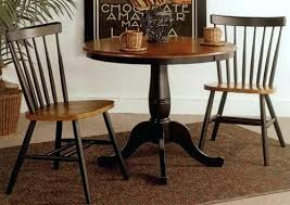 round wood pub table set solid and chairs bistro dark sets bar dining counter height furniture round wood