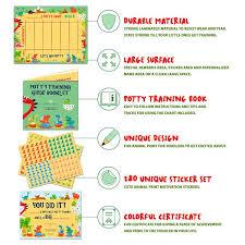 Potty Training Chart For Toddlers Dinosaur Design Reward Your Child Sticker Chart 4 Week Chart